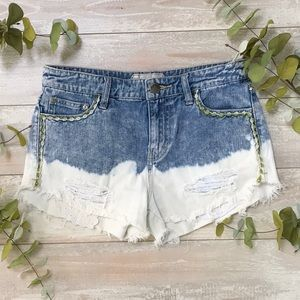 Free People Acid Washed Jeans